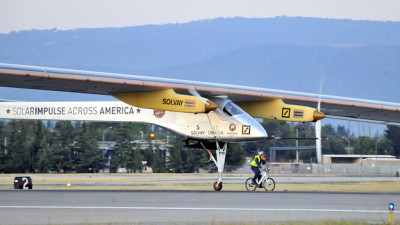 Solar Powered Airplane to Fly Across U.S.