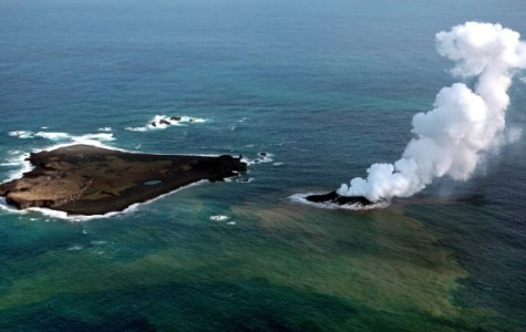 Volcanic Island Eats Another off Coast of Japan