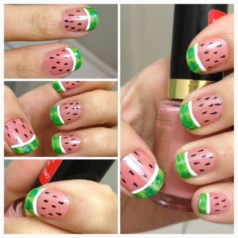 Cheap and Chic: Summer Fruit Nail Art