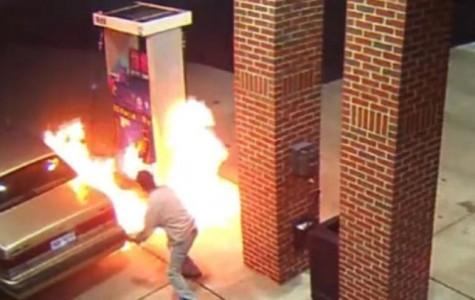 Man Starts a Fire At a Local Gas Station, Trying To Kill a Spider.