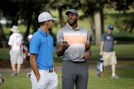 Curry and Iguodala Compete in the 27th Annual Celebrity  Golf Championship.