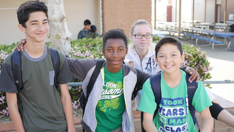 BYMS Wears Green For St. Patrick's Day