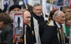 Immortal Regiment March in Moscow Comemorates Victory Day
