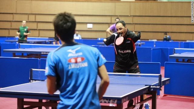 Armless Table Top Tennis Player Still Wins