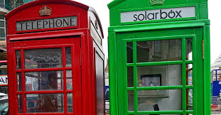 London's Red Phone Boxes Go Green