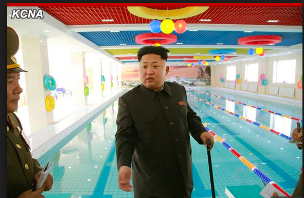Kim Jong Un tours the Wisong Scientists Residential District in Pyongyang, North Korea in a photo released by by the Rodong Sinmun, the newspaper of North Korea's ruling Workers Party.