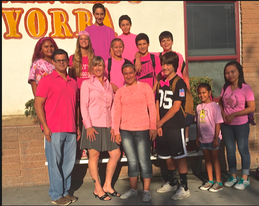 BYMS students and staff support breast cancer awareness.