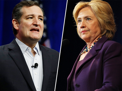Ted Cruz and Hillary Clinton Win Iowa Caucuses