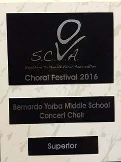 Concert Choir Scores Superior
