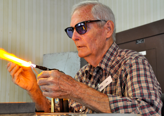 Glassblower Creates Art for Over 40 Years