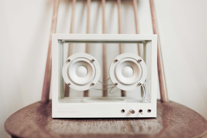 People People Create New Upcycled Small Transparent Speaker