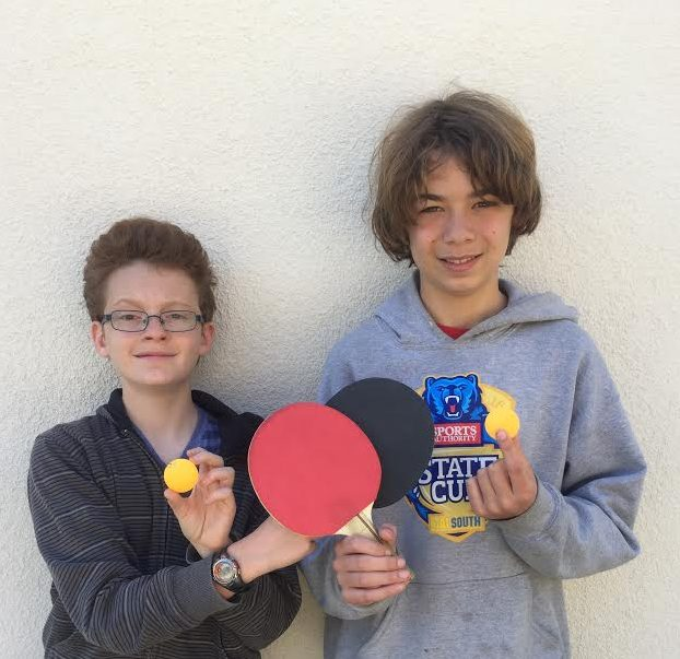 Perez and Boyer Place First in BYMS Ping Pong Tournament