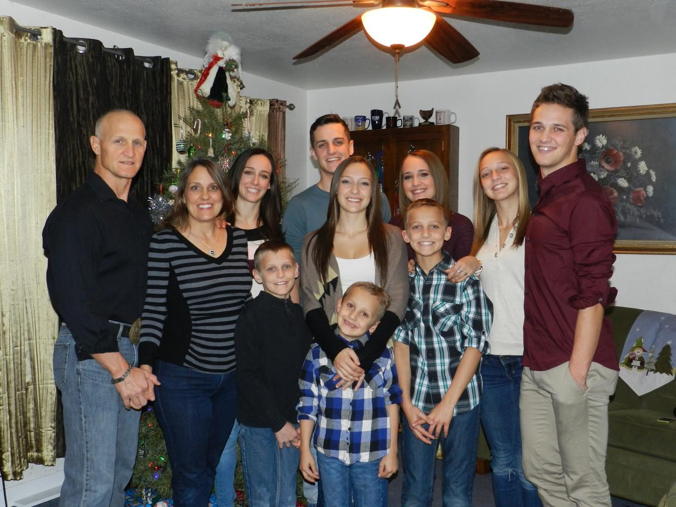 Calavitta family picture. Featured far left is Samuel Calavitta and Monica Calavitta, parents of  (from left to right) Back row: Ciena, 26, Gino, 23, Genoa, 21, Avi, 17, Antonio, 24.  Middle row: Catania, 19, Angelo, 14 Front row: Macario, 12, Marcello, 9 Courtesy of the Calavitta family.
