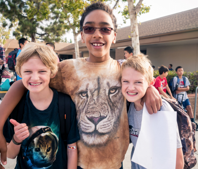 Supportive friendships can make all the difference when teens face challenges. From left to right: Cade Morgan, Spencer Woods, and Ethan Morgan Photo Courtesy of S. Shen.