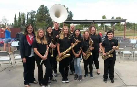 BYMS Band Performs In Honor of Patriot's Day