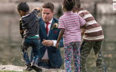 Groom Dives into Pond to Save Drowning Boy
