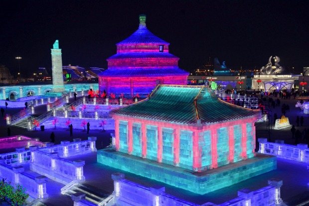 Harbin Ice Festival Attracting Large Portions of Guests