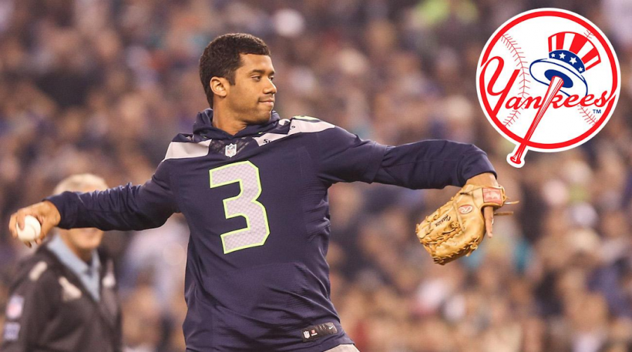 Russell+Wilson+Joined+Yankees