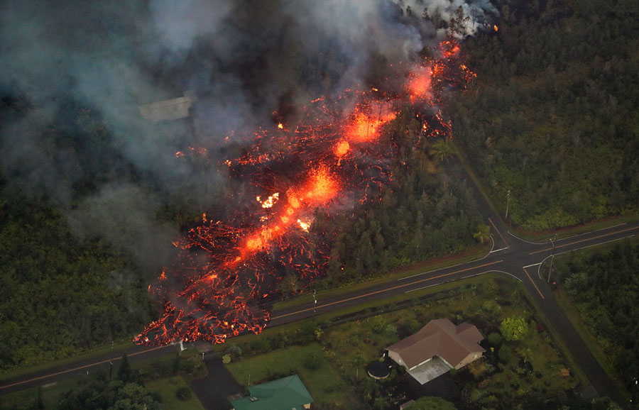 Mandatory Credit: Photo by BRUCE OMORI/PARADISE HELICOPTERS/EPA-EFE/REX/Shutterstock