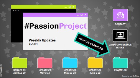 """Eighth Graders Explore their """"Passion"""" Through Project Based Learning"""