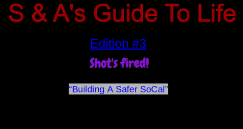 S&As Guide To Life, If shots are fired; what should I do?