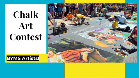 Mrs. Masone Hosted Chalk Art Contest for BYMS Art Students
