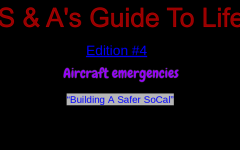 Inflight and On-Board Emergencies: How Do I Survive?